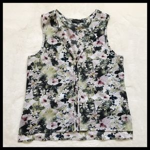 ANTHROPOLOGIE | SANCTUARY floral sleeveless blouse